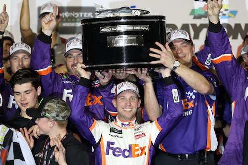 NASCAR Cup: Denny Hamlin wins second Daytona 500