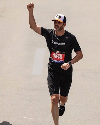 NASCAR Cup: Jimmie Johnson races on foot too