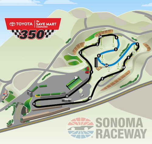 NASCAR Cup: fewer laps, more miles at Sonoma Raceway | Auto