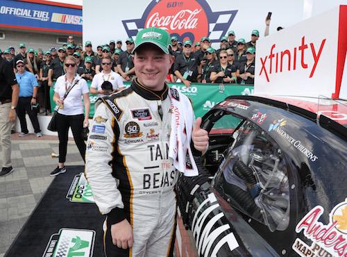 NASCAR Xfinity: Tyler Reddick wins hot race at Charlotte Motor Speedway