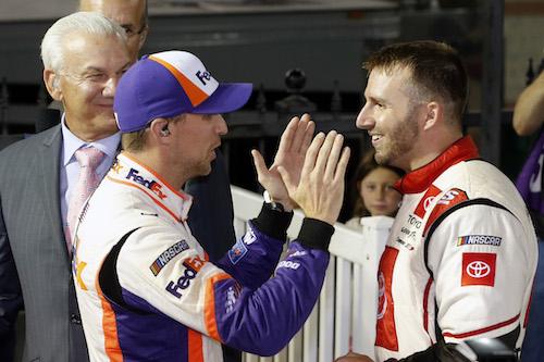 NASCAR Cup: Denny Hamlin denies Matt DiBenedetto win at Bristol
