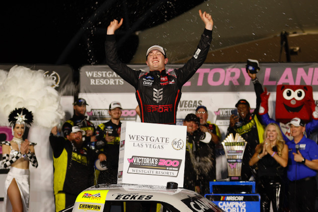 NASCAR Truck: Christian Eckes leads record night for ThorSport